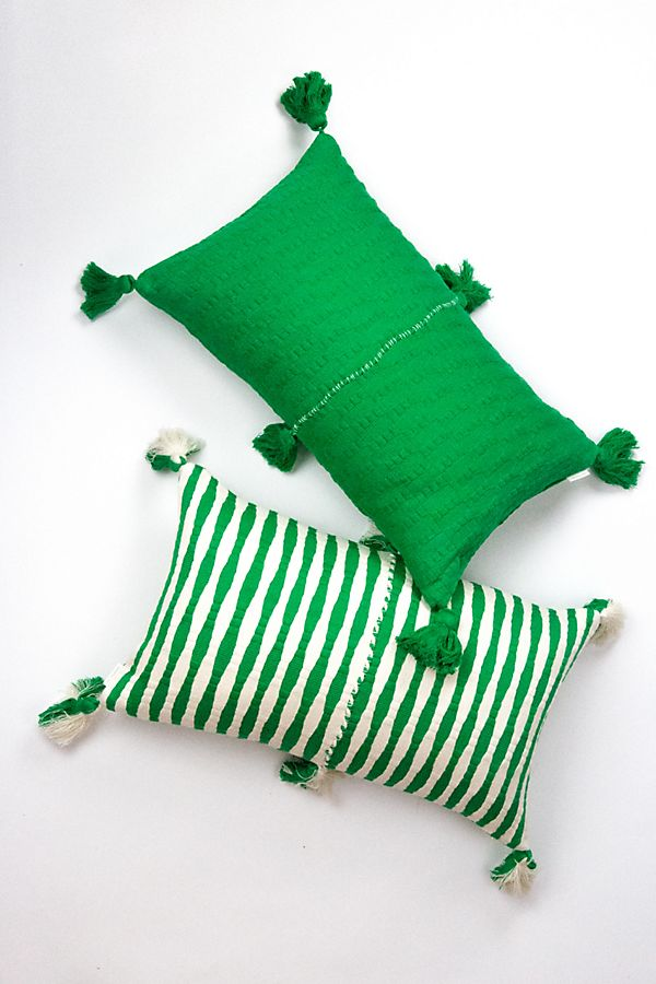 Slide View: 1: Archive New York Grass Green Antigua Pillow