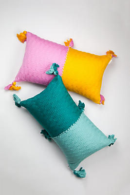 Slide View: 1: Archive New York Colorblocked Antigua Pillow