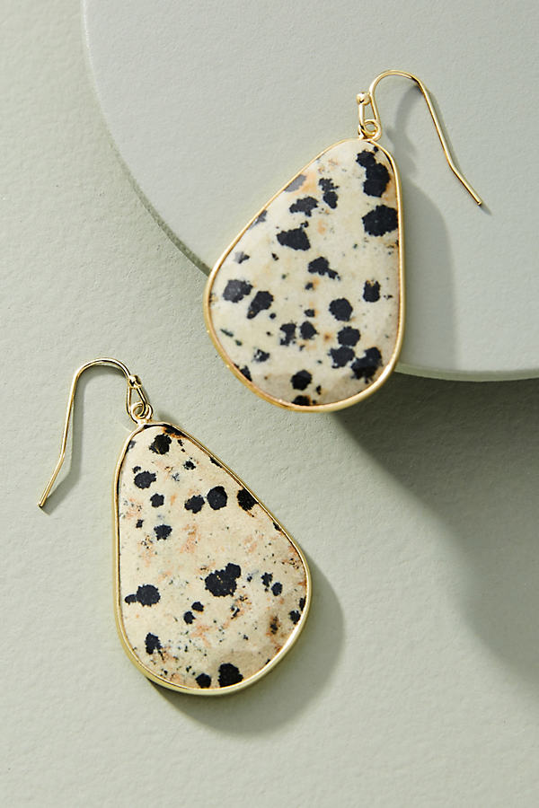 Luna Drop Earrings - Black