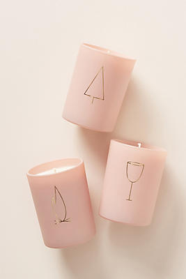 Slide View: 2: Pink Disco Boxed Candle