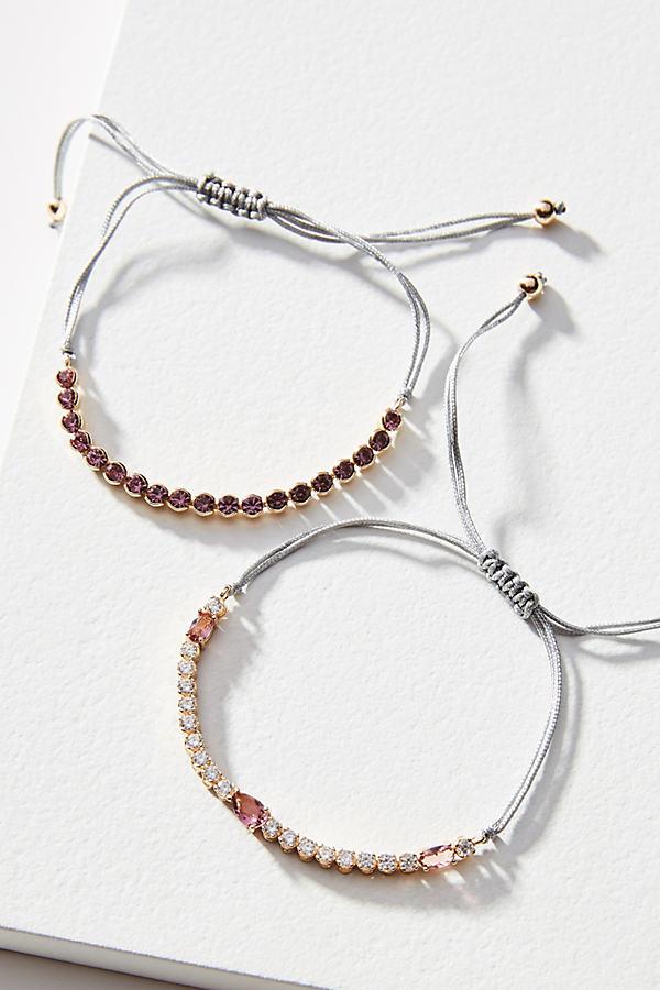Birthstone Bracelet Set - Pink