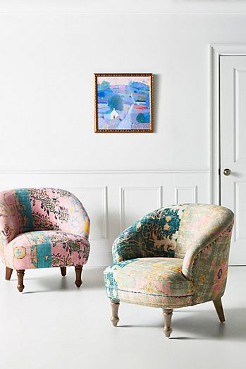 Orange Velvet Chaise