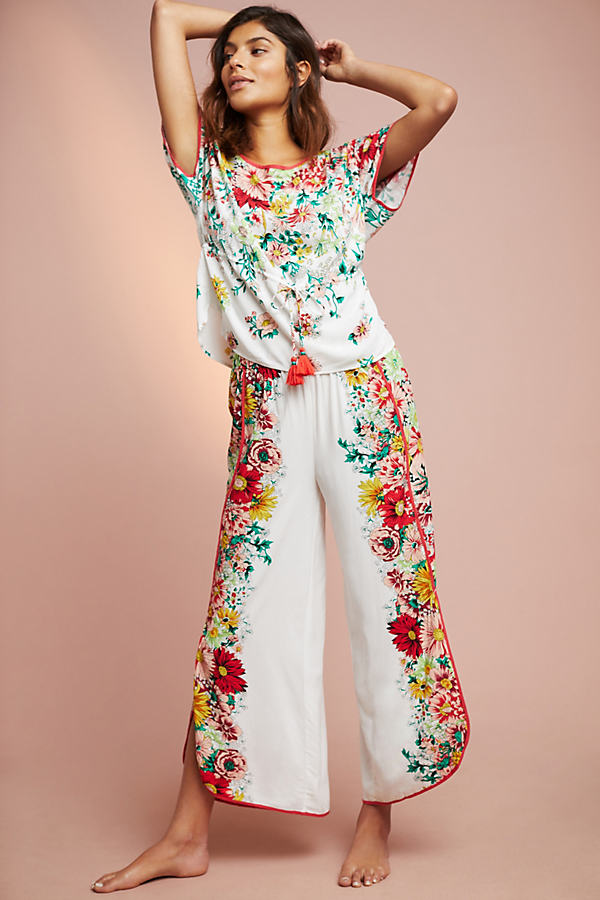 Ciara Floral-Print Sleep Trousers - Assorted, Size Xs