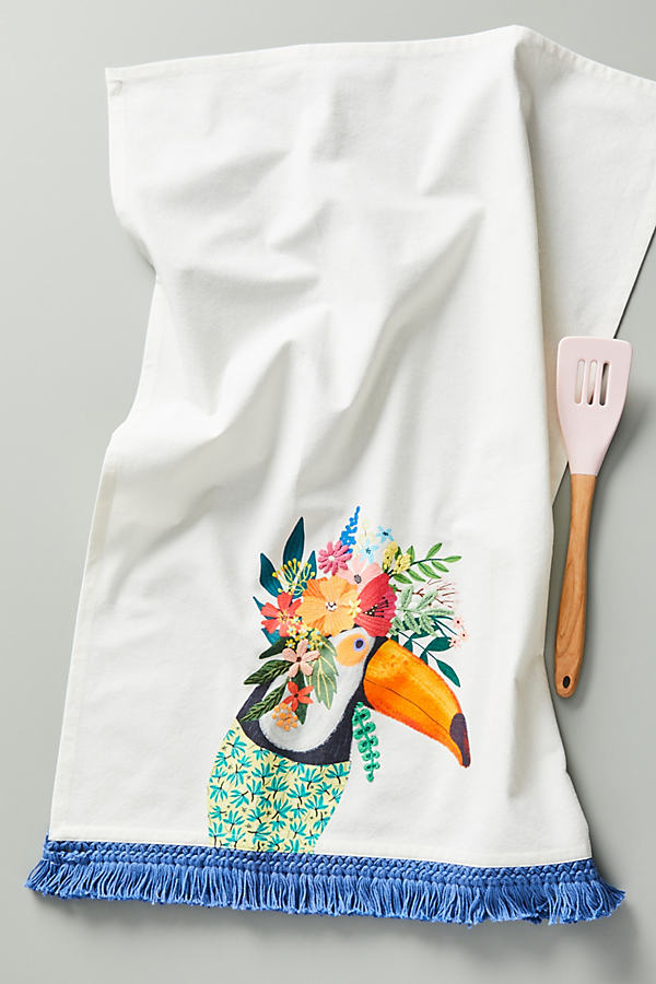 Mia Charro Animal Dish Towel - White, Size Dishtowel