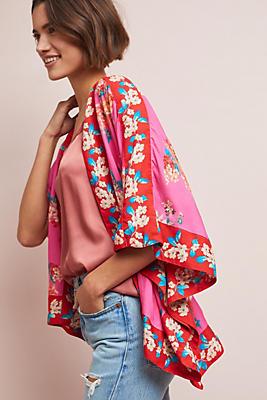 Slide View: 1: Rae Floral Jacket Kimono