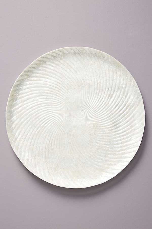 Glinda Capiz Charger Plate - White, Size Charger