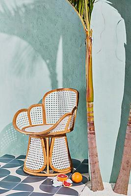 Slide View: 1: Julissa Rattan Chair