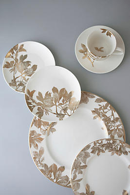 Slide View: 1: Caskata Arbor Gold 5 Piece Place Setting