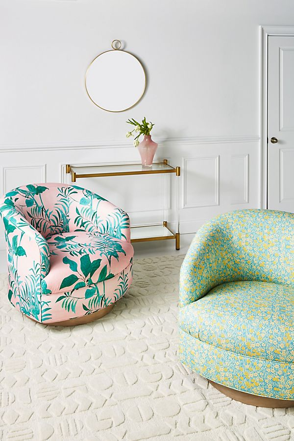 Slide View: 1: Paule Marrot Amoret Swivel Chair
