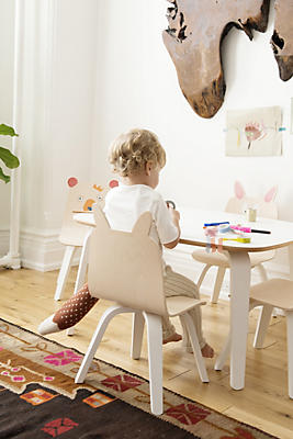 Slide View: 1: Oeuf Rabbit Play Chair, Set of 2