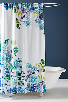 Slide View: 1: Sarah Hankinson Pansies Shower Curtain