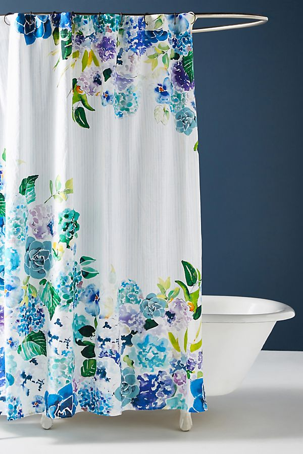 Slide View: 1: Sarah Hankinson Pansies Shower Curtain