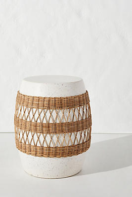 Slide View: 1: Maggie Rattan-Wrapped Stool