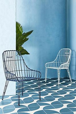 Slide View: 2: Wire Elowen Indoor/Outdoor Dining Chair