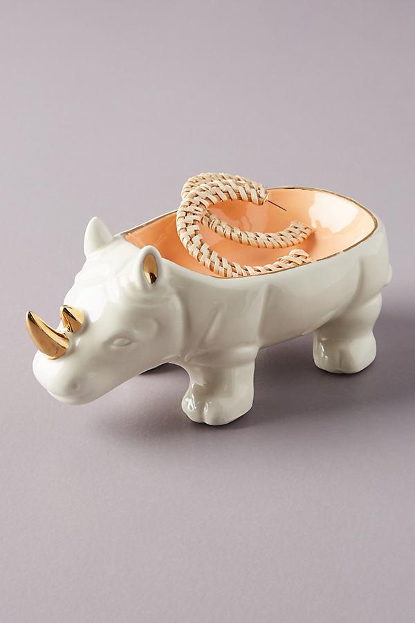 Remi the Rhino Trinket Dish - White