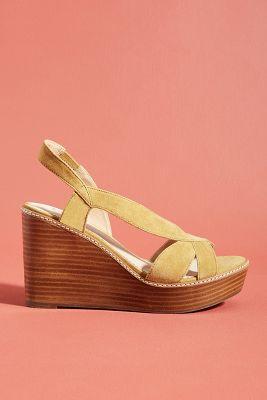 84b29d53b122 Castaner Pom Pom Platform Wedge Sandals