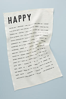 Slide View: 1: Happy Dish Towel