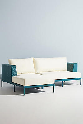 Slide View: 2: Palm Springs Indoor/Outdoor Chaise Sectional, Left