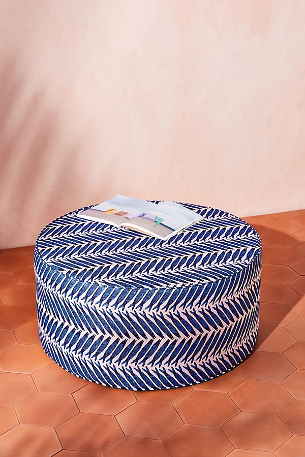 Slide View: 1: Emily Isabella Clive Indoor/Outdoor Ottoman