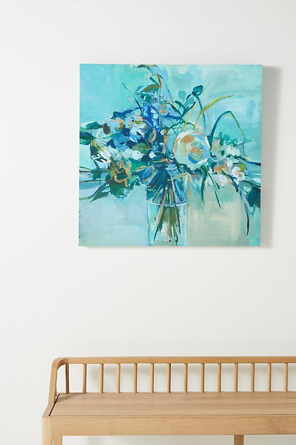 Slide View: 1: Flowers + Broken Heart Wall Art