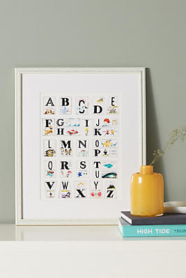 Slide View: 1: Alphabet Adventure Wall Art