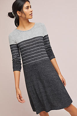 Slide View: 1: Brushed Fleece Tunic Dress