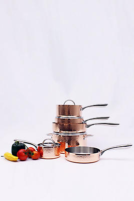 Slide View: 1: BergHOFF Vintage Collection 10-Piece Hammered Copper Cookware Set