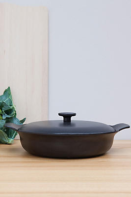 Slide View: 1: BergHOFF Ron Cast Iron Covered Deep Skillet