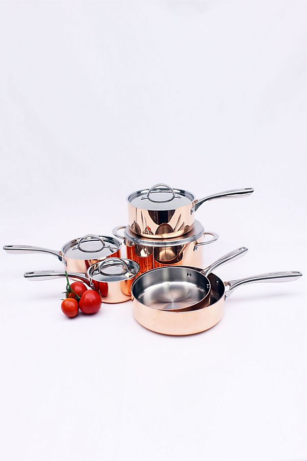 Slide View: 1: BergHOFF Vintage Collection 10-Piece Copper Cookware Set