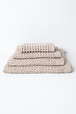 Slide View: 1: Kontex Lattice Towel, Beige