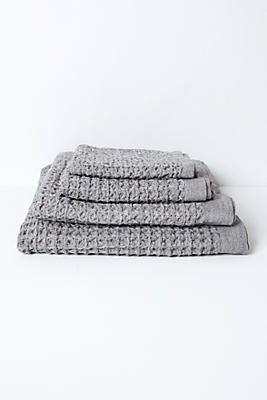 Slide View: 1: Kontex Lattice Towel, Grey