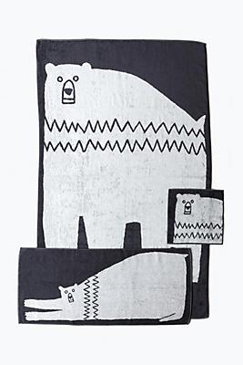 Slide View: 1: Yoshii Animal Towel, Bear