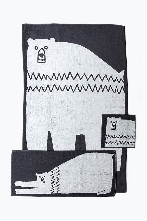 Slide View: 1: Yoshii Animal Towel, Bear