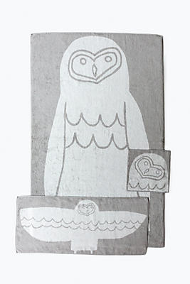 Slide View: 1: Yoshii Animal Towel, Owl