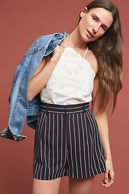 Slide View: 1: Pinstriped Shorts