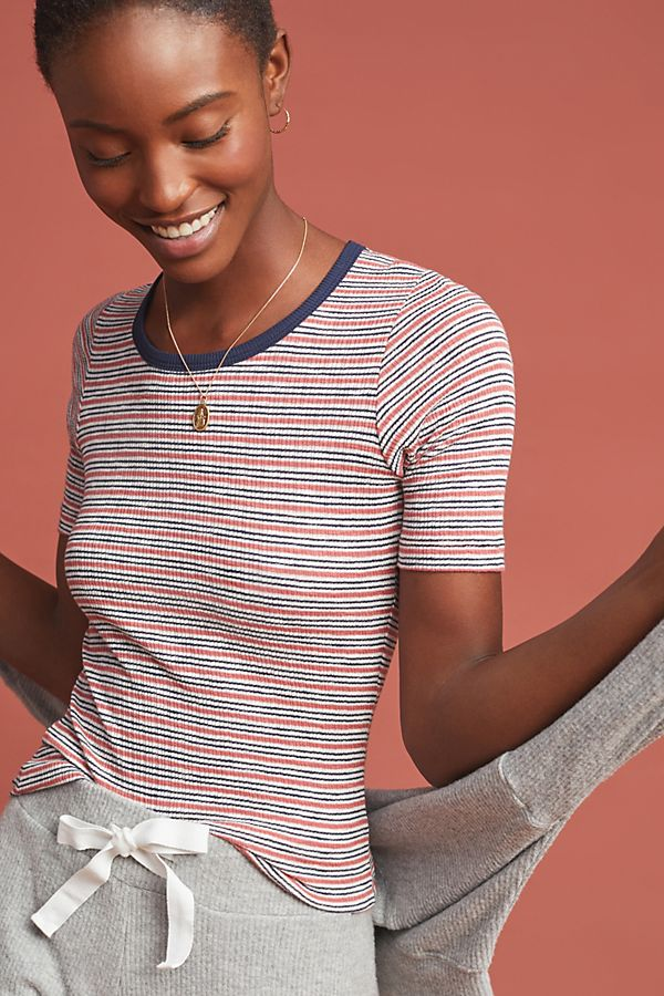 Slide View: 1: Sundry French Striped Tee