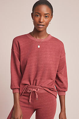 Slide View: 1: Sundry Puff-Sleeved Sweatshirt