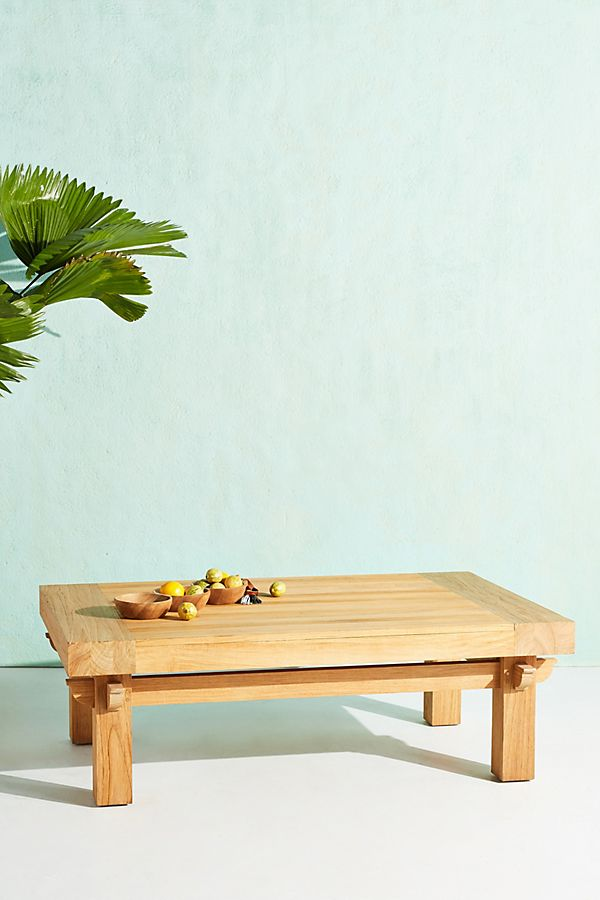 Slide View: 1: Teak Indoor/Outdoor Coffee Table