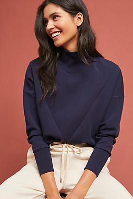 Slide View: 1: Mock Neck Sweatshirt