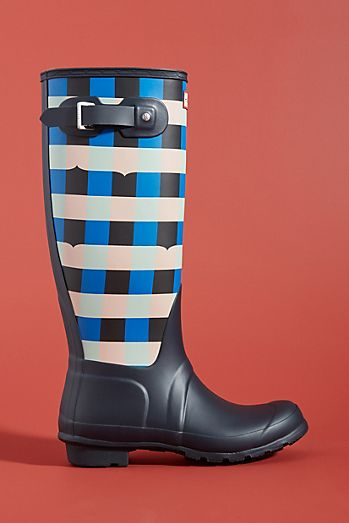 Hunter Boots Gingham Tall Rain Boots c3008b5eb0