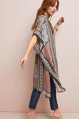 Slide View: 1: Blocked Print Kimono