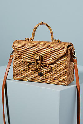 Bailey Rattan Crossbody Bag by Anthropologie