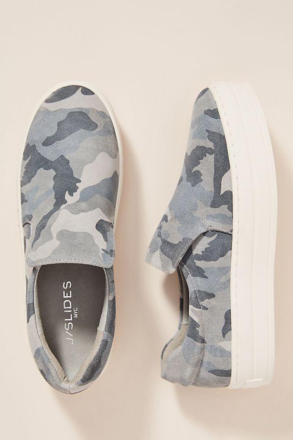 Slide View  2  J Slides Grey Camo Platform Sneakers fa04e60da309