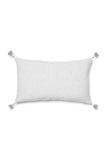 Grey French Stripe Pillow