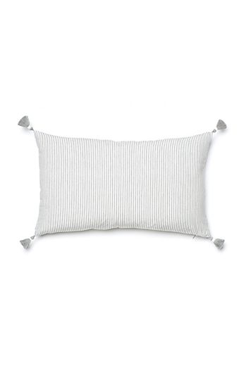 Grey French Stripe Pillow