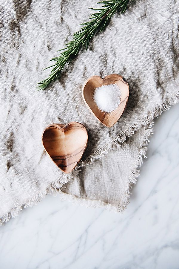 Slide View: 2: Connected Goods Mini Wood Heart Dish Set