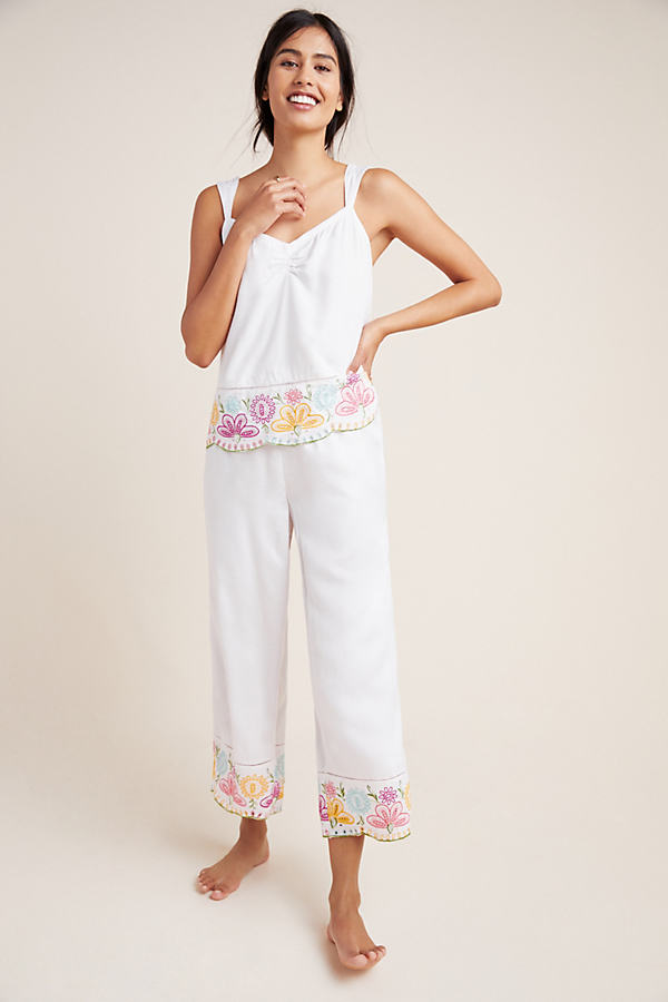 Pennbrooke Embroidered Sleep Trousers - Pink, Size S