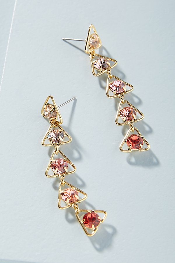 Slide View  1  Tel Aviv Swarovski Crystal Drop Earrings be58c0210e20