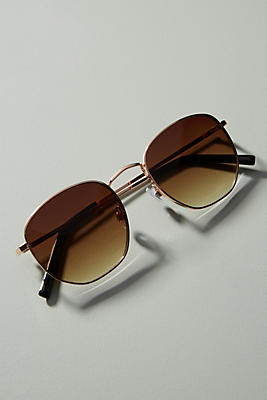 Tina Rounded Sunglasses by Anthropologie
