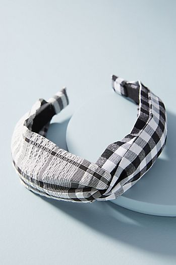 Beck Gingham Headband 49b39dd50e5